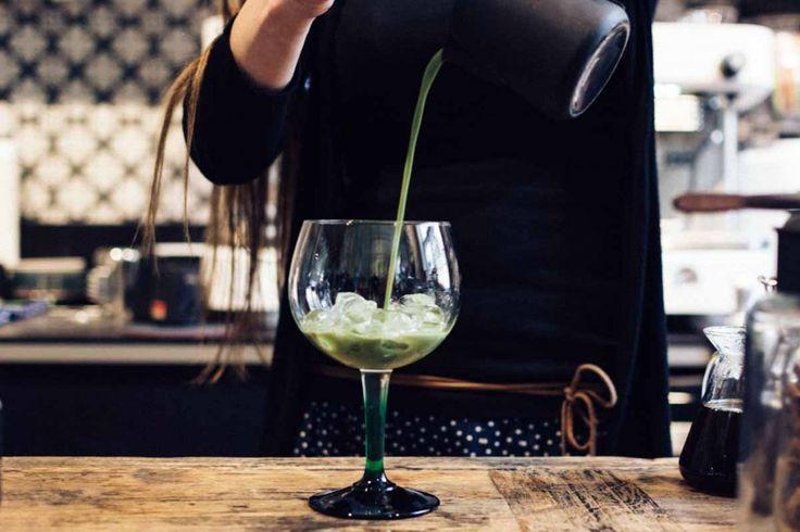 Preparing Matcha cocktail - FoodiesFeed