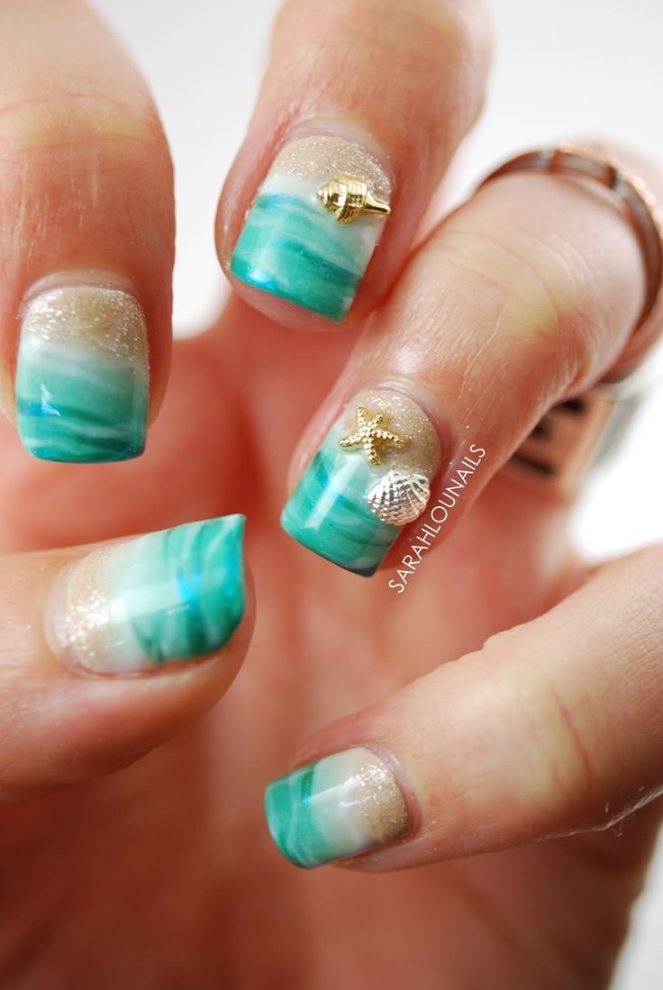 Best 25+ Beach Nail Designs Ideas On Pinterest