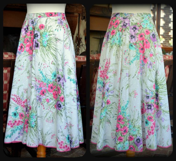 Vintage broderie anglaise floral Skirt by CatsAndHatsVintage on Etsy