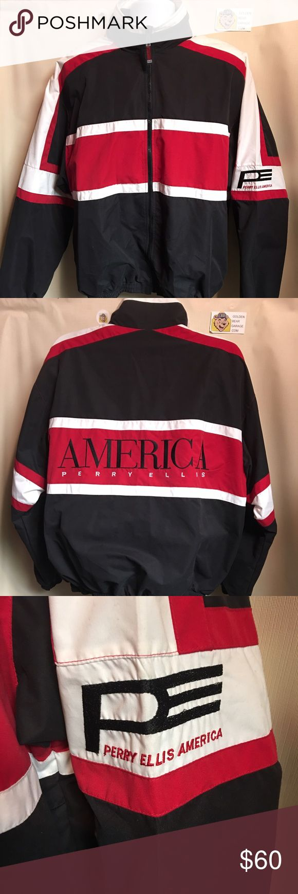 Vintage Perry Ellis America Men's Large Jacket Gently Worn Men's Large Vintage Perry Ellis America Jacket. In great condition with no major flaws. This jacket takes you back to the hip hop 90's. Perry Ellis Jackets & Coats Windbreakers