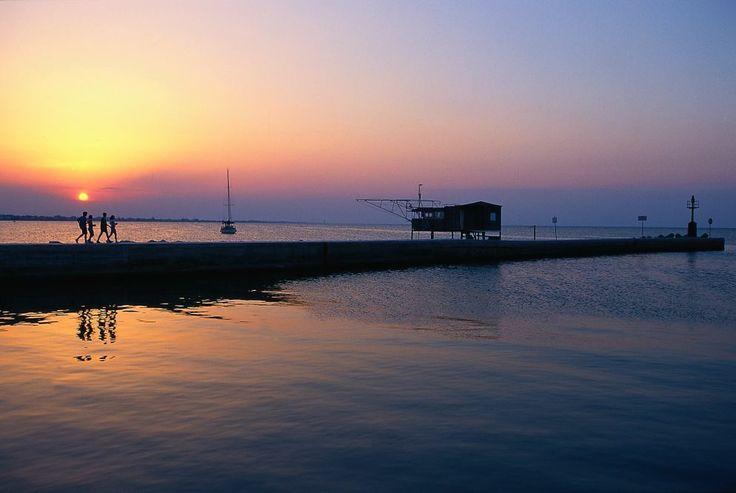 Molo al tramonto, Rimini