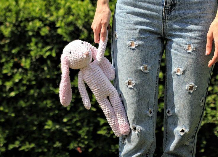 FLUFFY BUNNY MINI COLLECTION - PINKY crochet, crocheting, craftastherapy, myhandsmaking, amigurumi, bunny, fluffy, horgolás, horgolt, oviktoria, madebyoviktoria