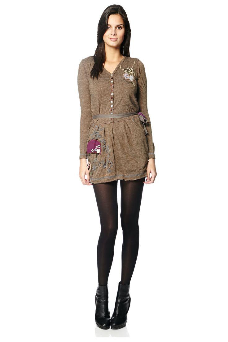 Venda Desigual / 11479 / Mulher / Vestido Mangas Compridas / Vestido Cáqui. 54€