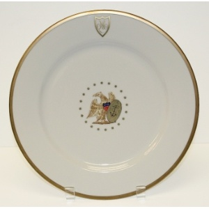 James Monroe - White House China - some pieces in the set have this monogram & 353 best White House China images on Pinterest | White homes White ...