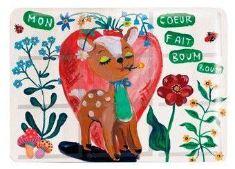boîte de peinture en métal 'bambi' par Nathalie Lété