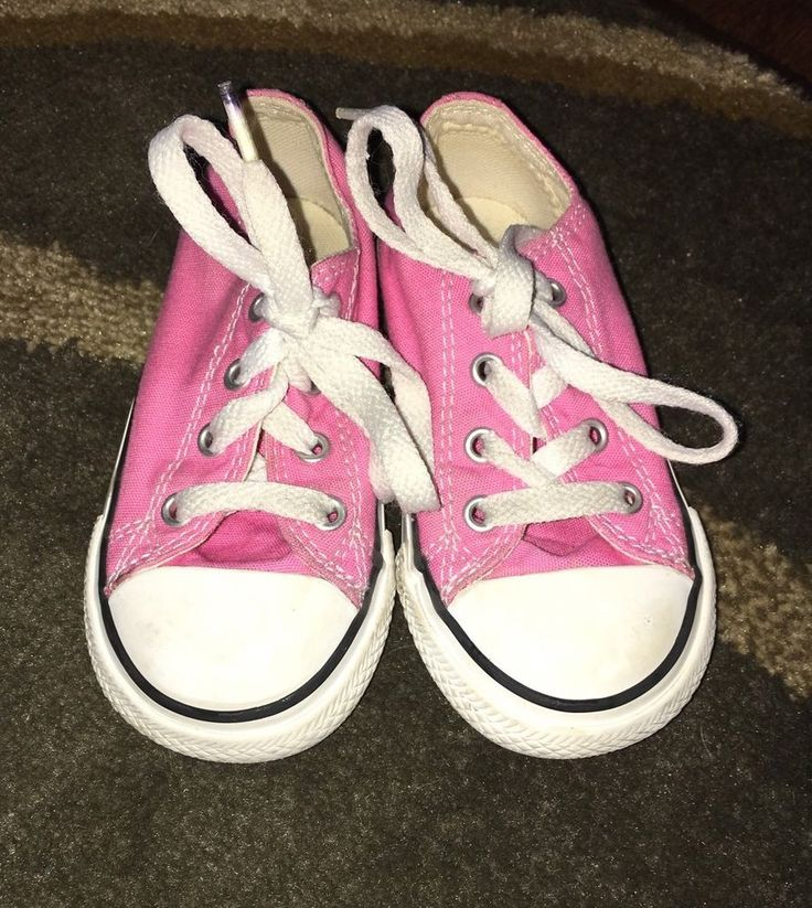 6e465681e7a6 toddler baby girls converse all star pink sneakers chuck shoes size 7 low  top from  14.99