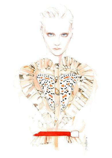 Givenchy by Riccardo Tisci Fall Winter 2014 ilustration by António Soares