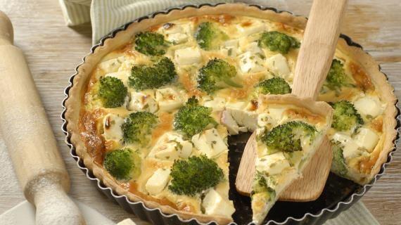 Киш с брокколи и сыром фета. Пошаговый рецепт с фото, удобный поиск рецептов на Gastronom.ru