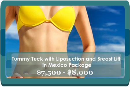 Cheap Tummy Tuck with Liposuction and Breast Lift Package in