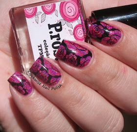 The Clockwise Nail Polish: Esmalteria da KK Prosa & Roses Nail Art
