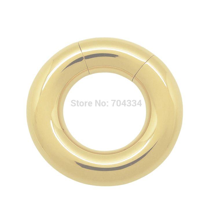 6 мм x 15 мм PVD позолоченные хирургическая сталь сегмент кольцо пирсинг на теле