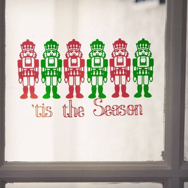 u0027tis the season holiday nutcracker window cling - Window Clings