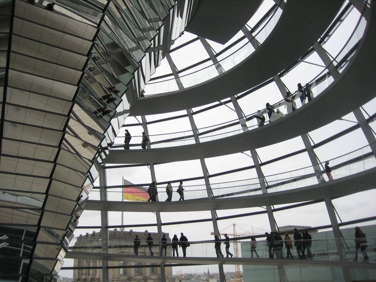 Modern architecture at the Reichstag