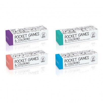 Set of 4 pocket games and colouring in sets - Cosmos, City, Fantastic and Magic…