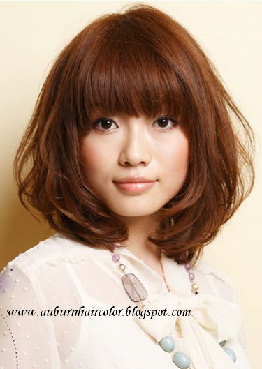 Auburn Hair Color,Medium auburn brown: Chestnut Hair Color
