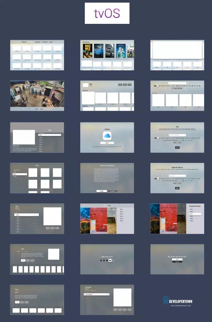 Apple TV OS Free Sketch UI Kit