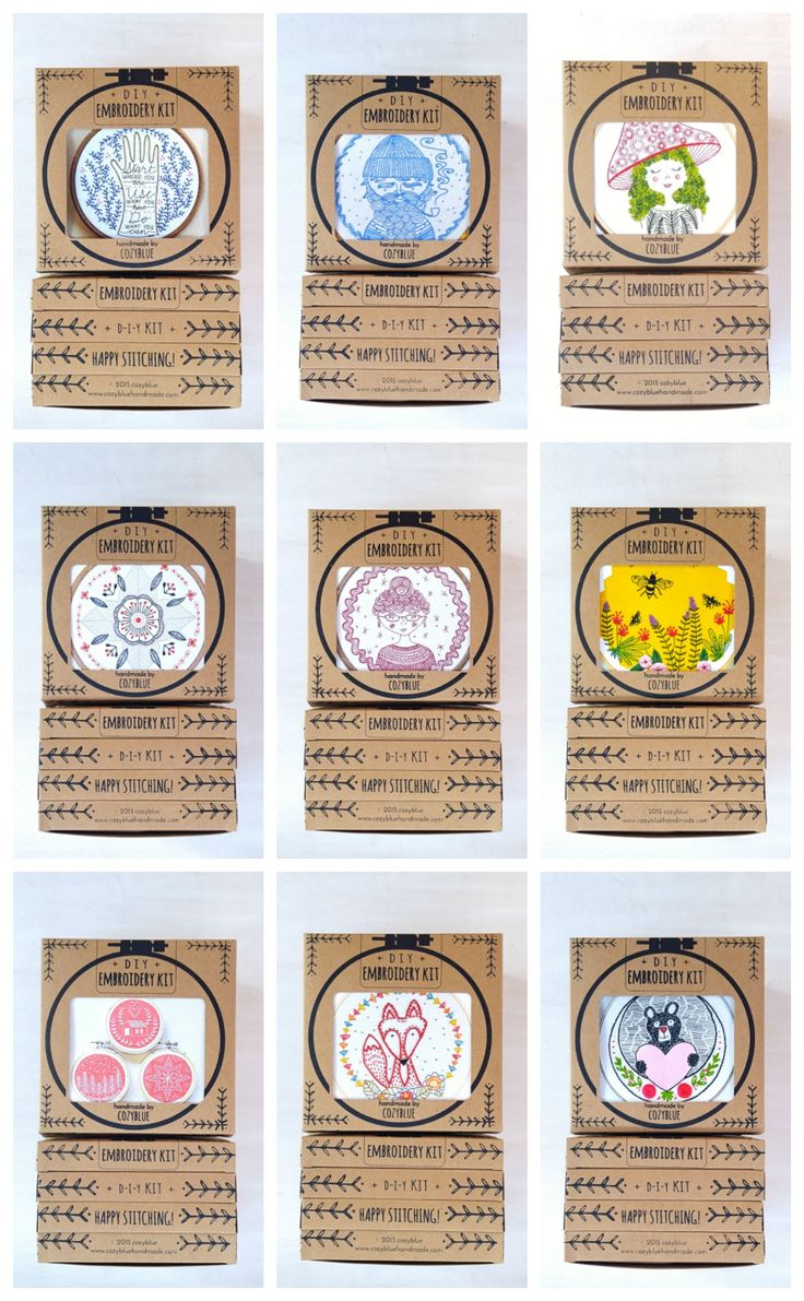 Embroidery Kits By Cozyblue ::plete Stitching Kitse With Everything  You Need To Start