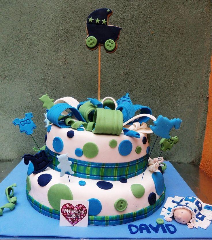 Cute Cake For Boyu0027s Baby Shower Pastel Para Baby Shower De Niño
