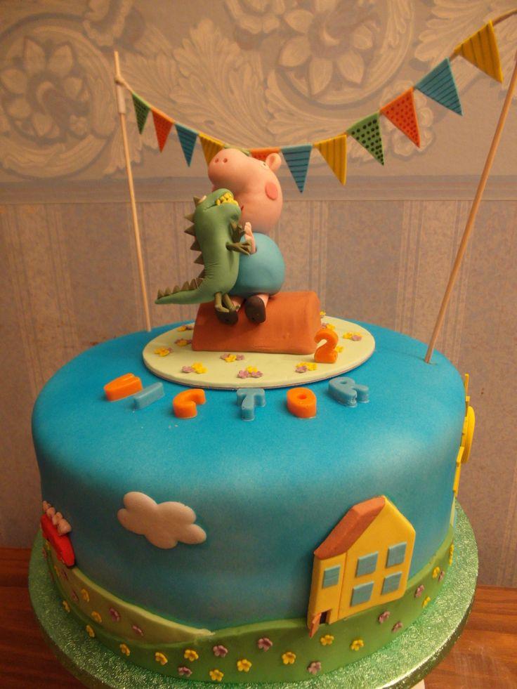 Peppa Pig George cake.