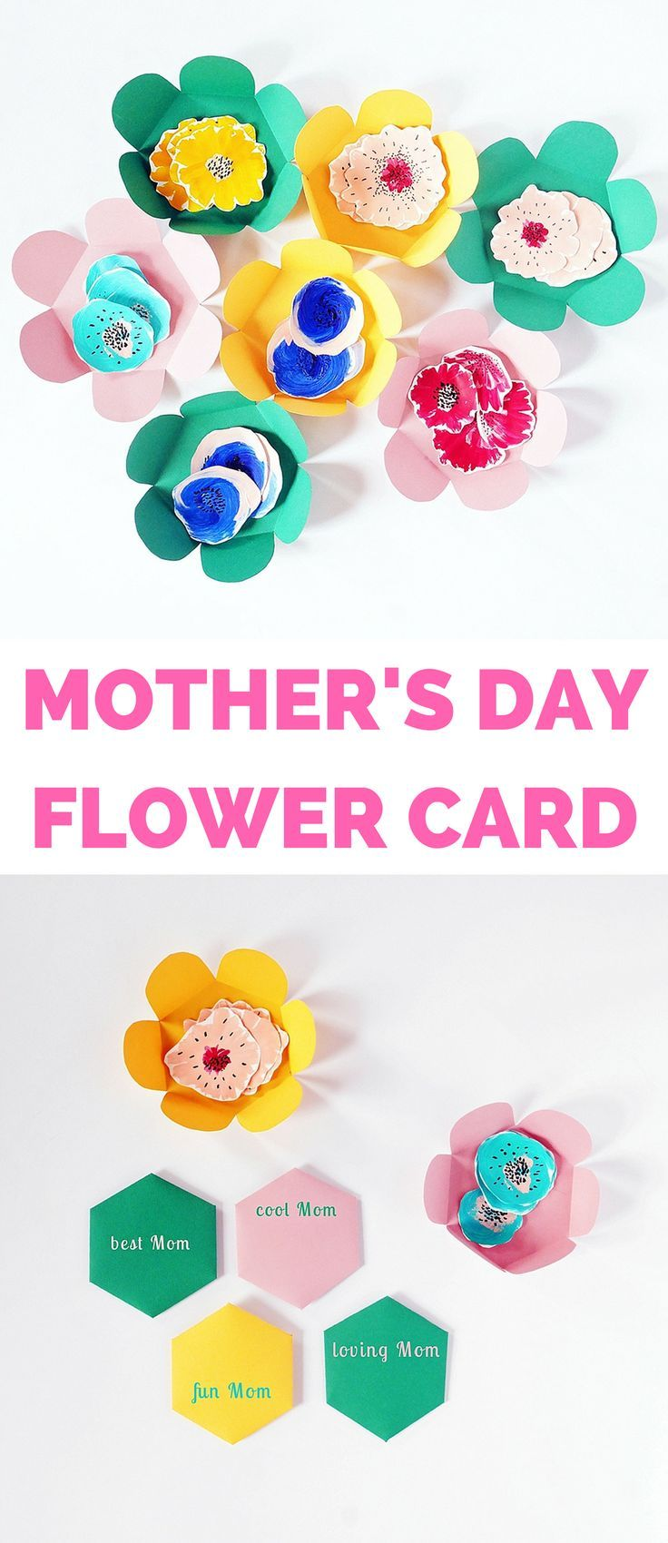 Diy Mother S Day Paper Flower Card Diy Mother S Day Crafts