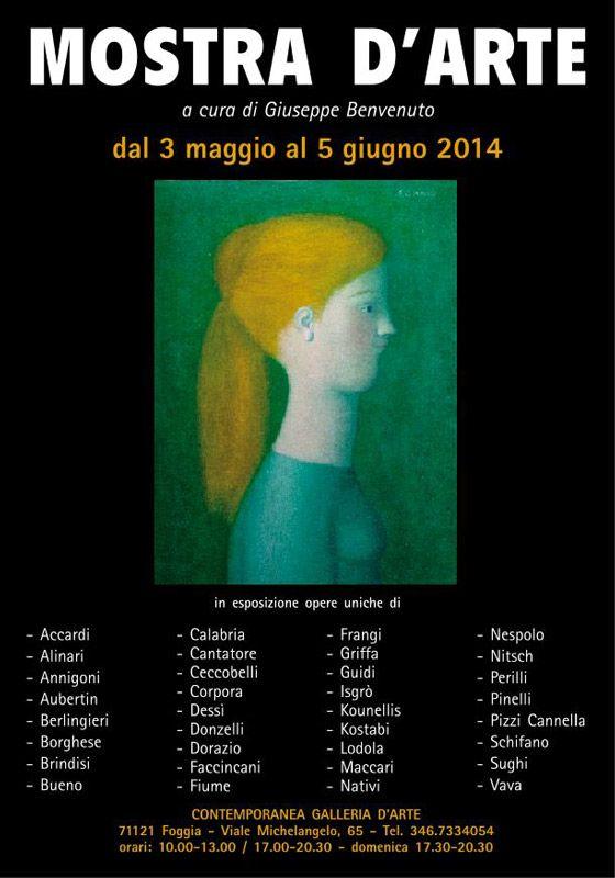 """Giuseppe Benvenuto """"Contemporanea Galleria d'Arte"""" a #Foggia (Fg) inaugurazione sabato 3 maggio 2014 alle ore 18,00. La #mostra dal 03 maggio al 05 giugno 2014."""