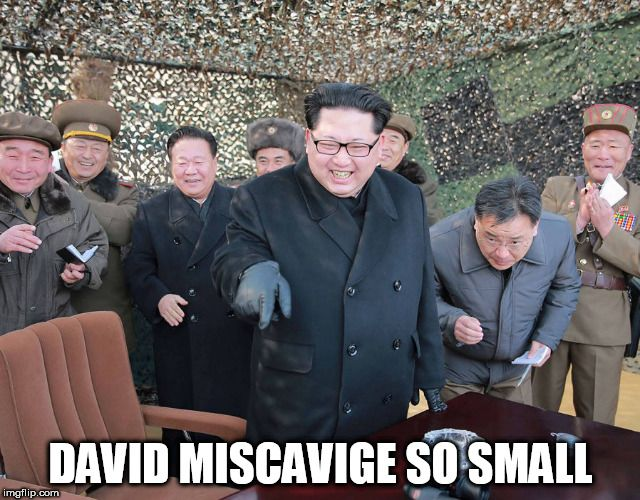 DAVID MISCAVIGE SO SMALL | made w/ Imgflip meme maker