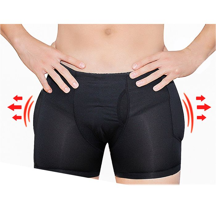 611469d87a3 Fashion Men Plus Size Sexy Butt Lifting Slim Shapewear Compression Trunk  Boxer Front Opening Pad Underwear - NewChic Mobile