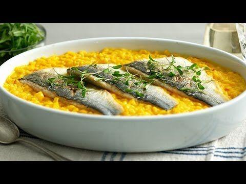 ▶ Saffron Risotto with Sea Bass - Marco Pierre White recipe video for Knorr - YouTube