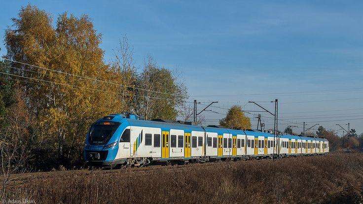 Trains on rail nr. 1 Poland