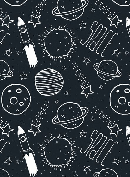 Space Doodles Art Print