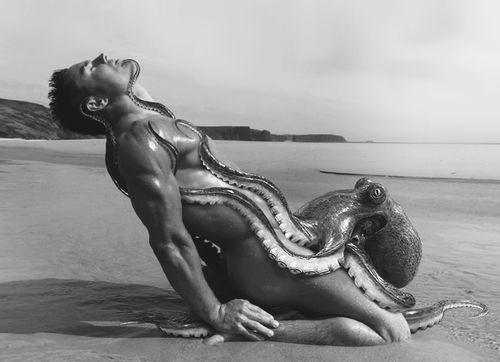 Octopus sucking on a woman, nude urmila matonkar