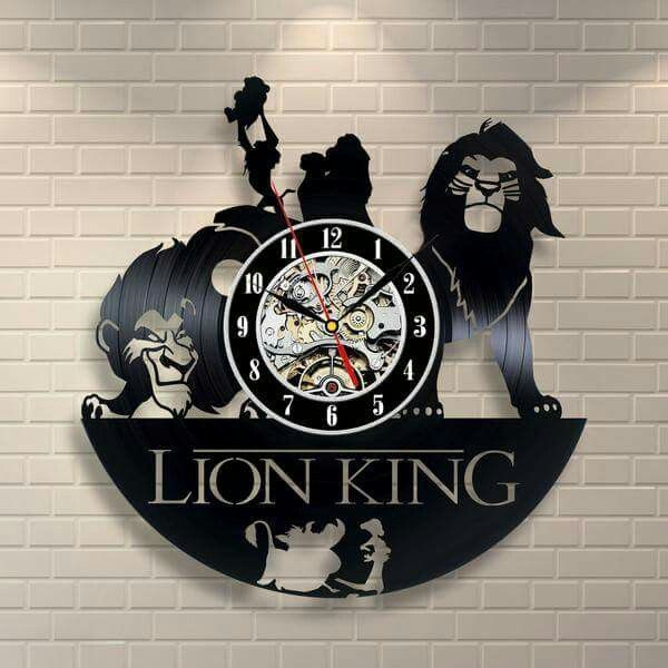 *Tag someone who would love these! Get 50% Off Today!!  Get it HERE —> http://thevarietyshop.co/products/lion-king-vinyl-record-wall-clock