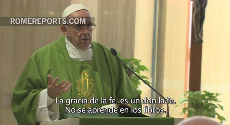 El Papa en Casa Santa Marta: La fe no se puede aprender en los libros