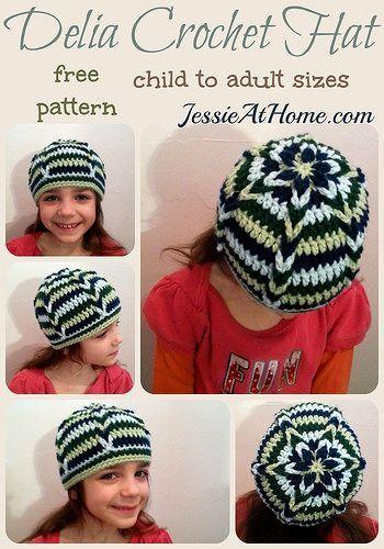 Delia Crochet Hat ~ Free Crochet Pattern by Jessie At Home