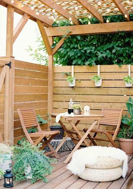 Ideas para patios ideas para la decoraci n de patios y - Ideas para pergolas ...