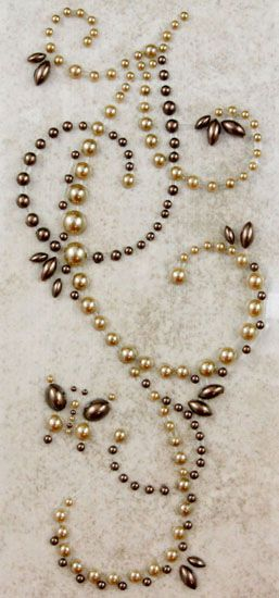 Prima - Say It In Pearls Collection - Self Adhesive Jewel Art - Bling - Butterfly Swirls - Brown at Scrapbook.com $2.99