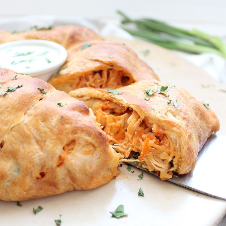 I'll be making this in the near future. Buffalo Chicken Taco Ring