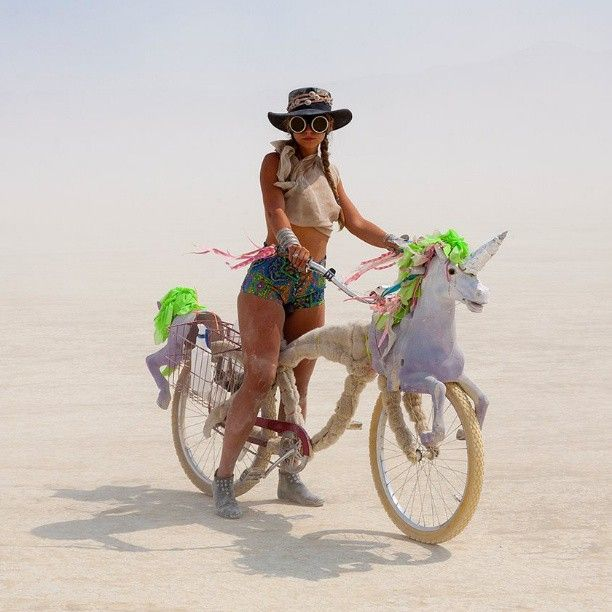 I want to quit my job and become a nomadic unicorn bicycle enthusiast in crazy sunglasses and short shorts.