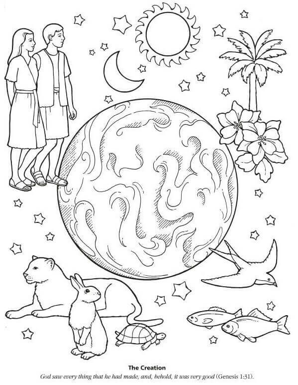 Gods Creation Sunday School Colouring Pages Sunday School