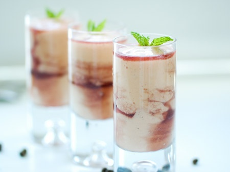 Papaya Crème with Cassis Liqueur Take your family and friends to the tropics in a flash with this blend of fresh papaya and vanilla bean ice-cream spiked with blackcurrant liqueur.