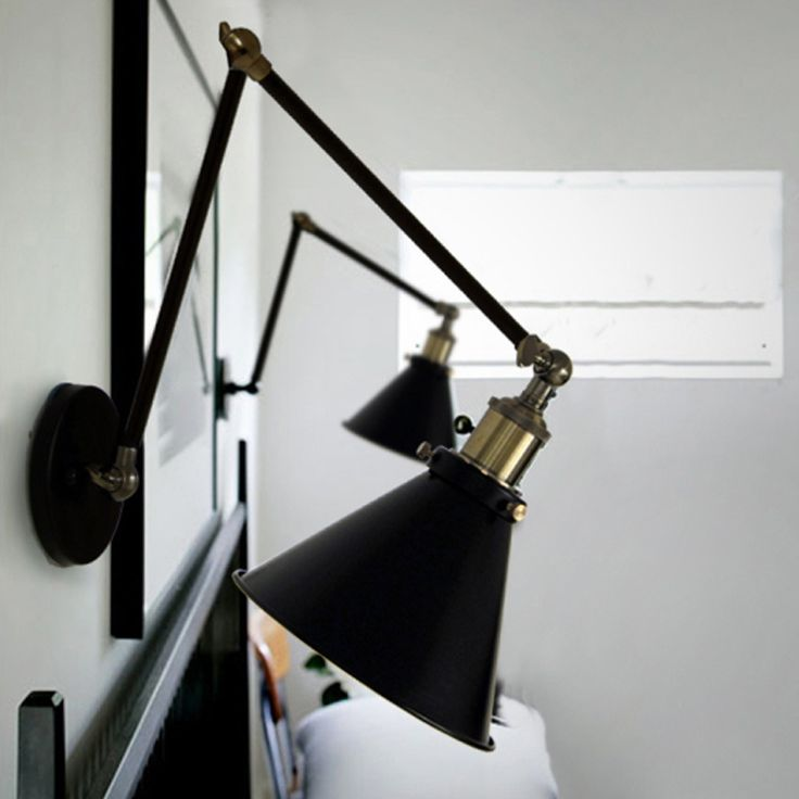 Swing Arm Wall Lamp With Cord. Atelier Swingarm Wall Sconce Click ...