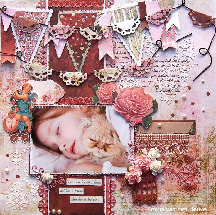 "Emilia van den Heuvel: Love is... {Merly Impressions & Kaisercraft met uitleg} KAISERCRAFT ""key to my heart"" collection"