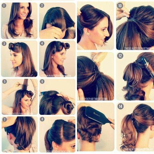 1950's vintage ponytail. beauty