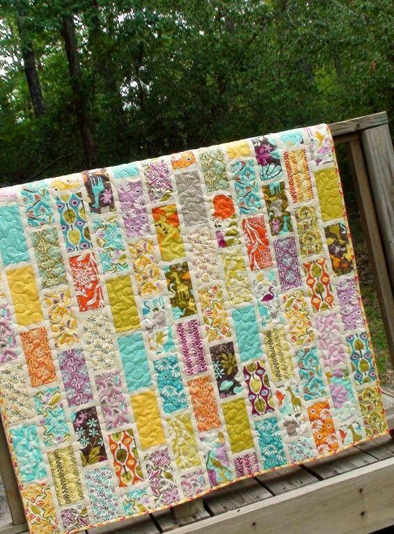 Quilting Project Ideas : Square brick quilt! Quilting Pinterest Bricks and Patterns