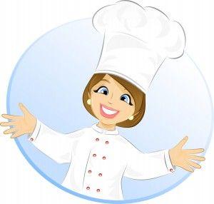 Free Cartoon Girl Chef | Cook- vector illustration | Illustration Gallery
