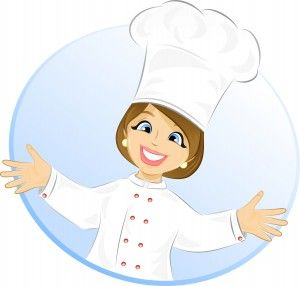 Free Cartoon Girl Chef Cook Vector Illustration