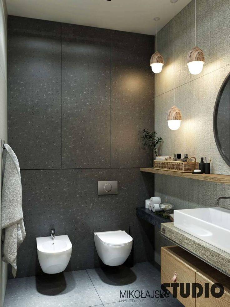 Finde moderne Badezimmer Designs: Exklusive Wohnung in Sopot. Entdecke die schönsten Bilder zur Inspiration für die Gestaltung deines Traumhauses.