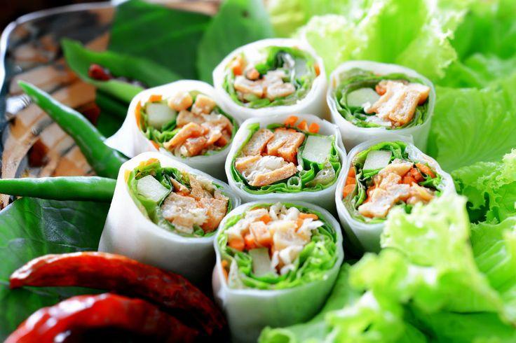 Sommer-Gericht: Gefüllte Reispapierrollen #nu3