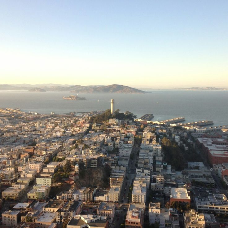 Breathtaking view over San Francisco and the Bay Area from Transamerica Pyramid, California, USA