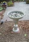 Bird bath from lamp base